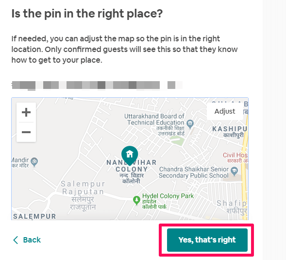 pin in the right place