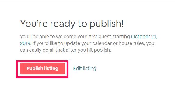 publish listings