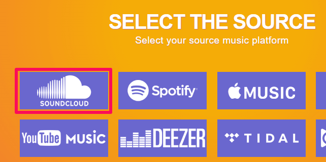 select music source
