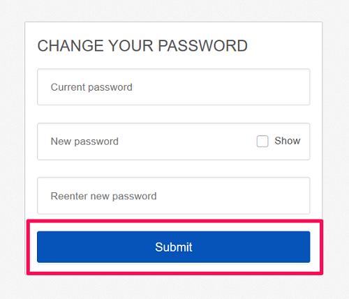 submit new password