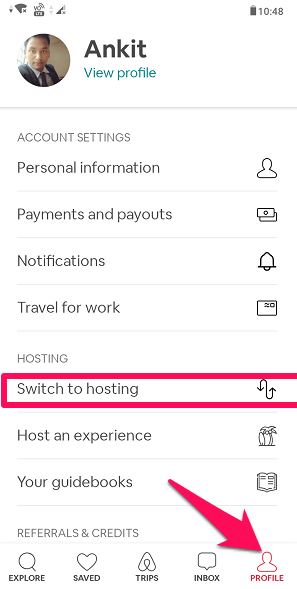 switch to hosting