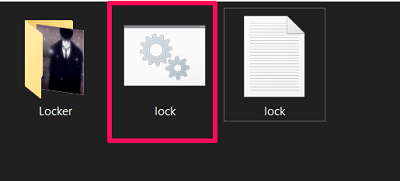 lock a folder on Windows without any software - batch file created