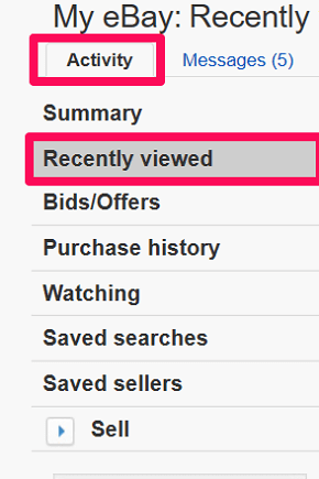 How To Clear Recently Viewed Items On Ebay Techuntold