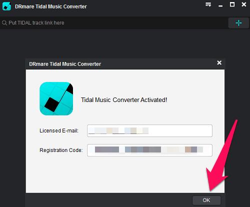 Register on DRmare Tidal downloader