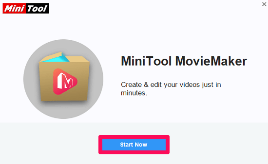 get started with minitool moviemaker