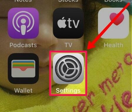 iphone settings option