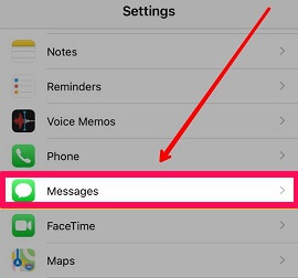 messages option settings