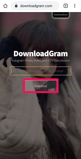 paste link in download gram-min