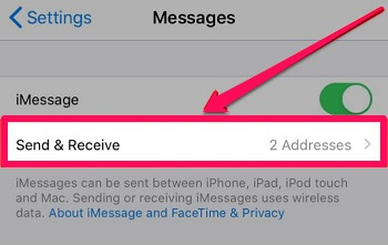 stop sending and receiving
