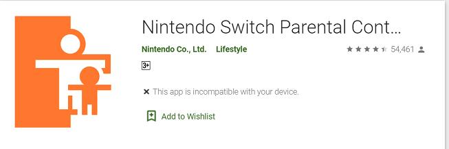 Nintendo Switch Parent Control