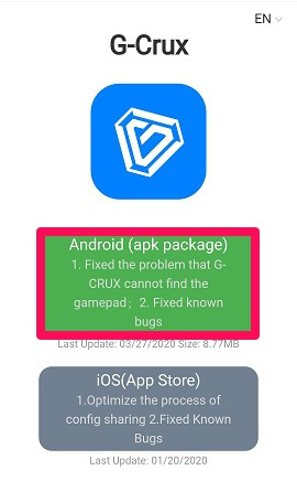 choose device to download gcrux app