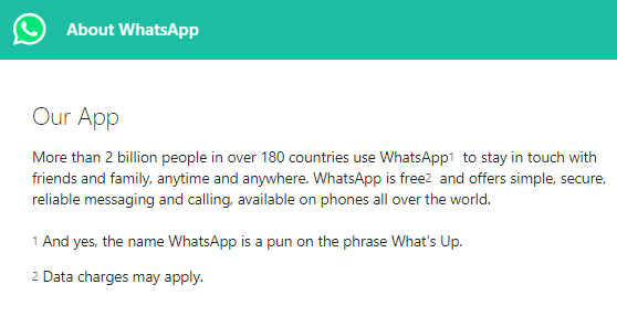 WhatsApp is a pun on What's Up