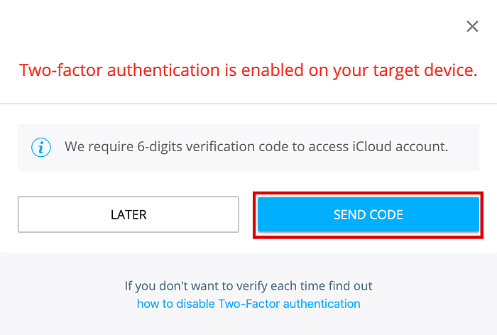 Two factor authentication of mSpy