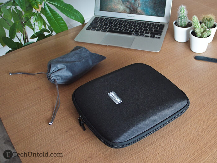 The hard case is not only handy but also convenient