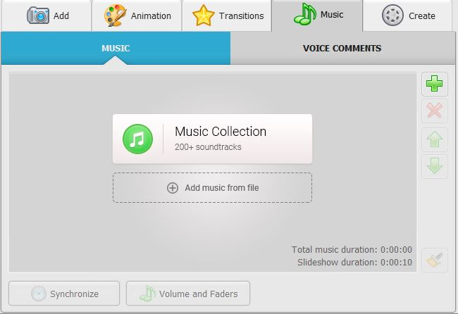 Music Collection Interface