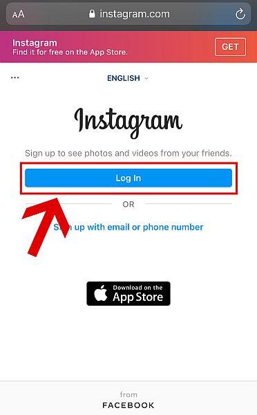 Open the Instagram website on your mobile or desktop browser