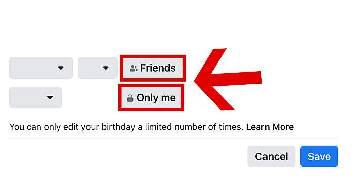 Hide your birthday