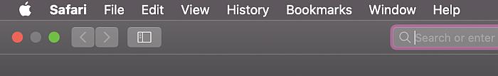 Safari search bar