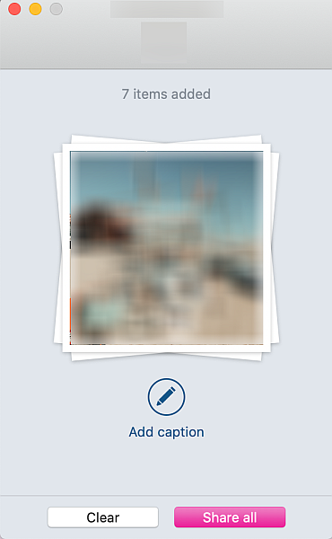 Select all the photos that you want to upload