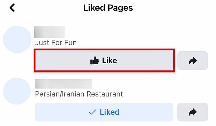 """The button will turn gray and will change to """"Like"""" once you do."""