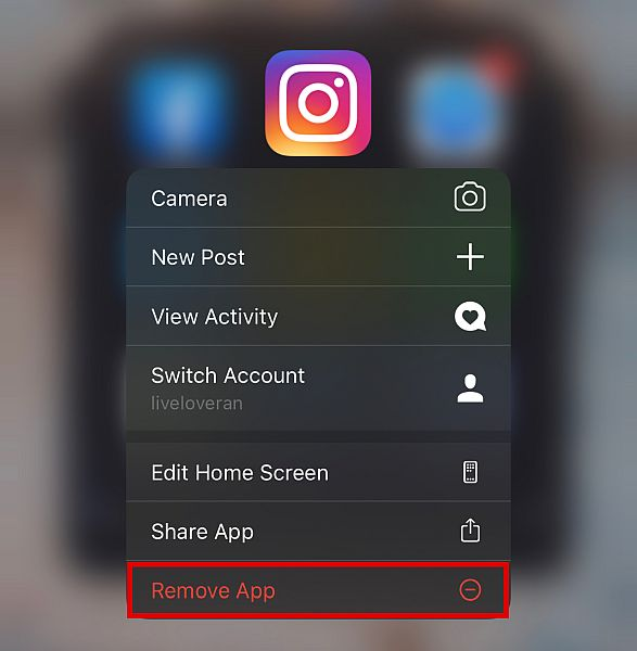 Remove app then freshly install