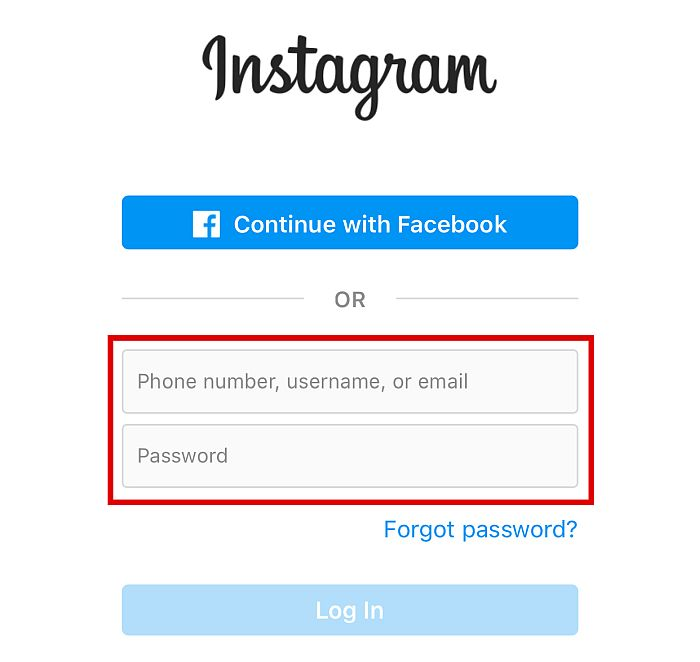 """Select """"Continue with Facebook"""""""