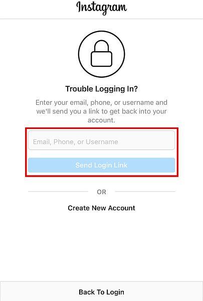 """Click """"Send Login Link"""" after"""