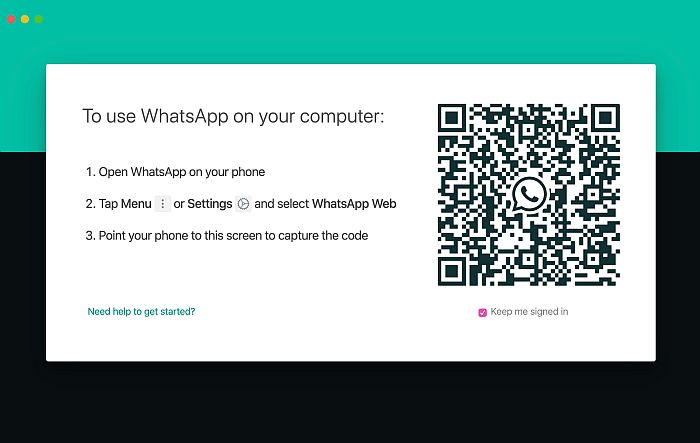 QR Code for Whatsapp Web