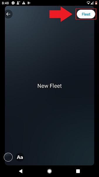 To publish your Fleet, tap Fleet