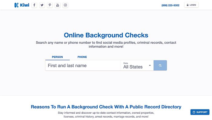 Use a background check engine like Kiwi