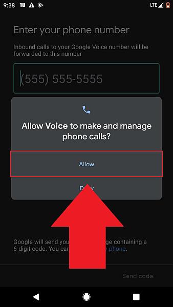 Allow Google voice