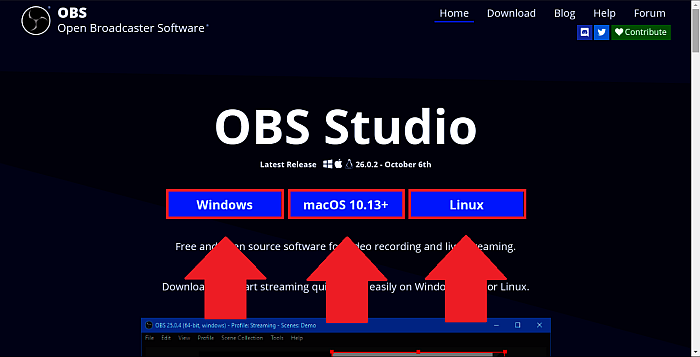 Download OBS