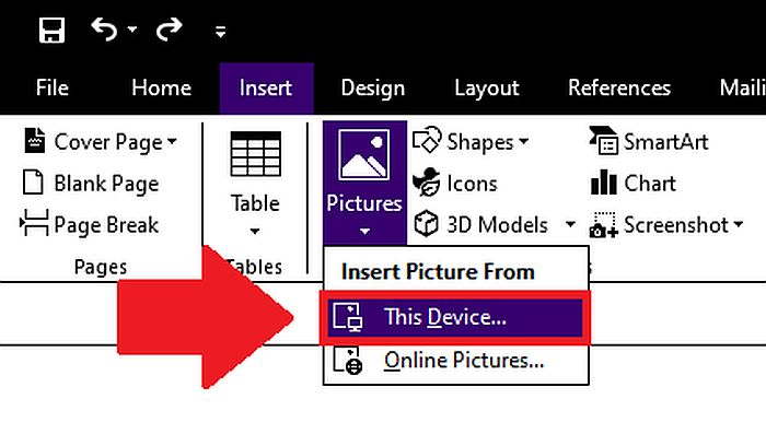 Inserting Image to Word File from the Device Drive
