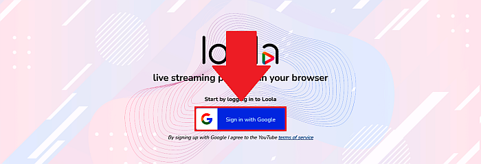 Loola Sign in with Google