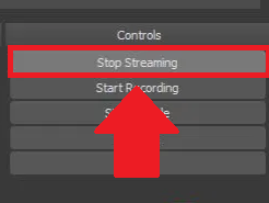 OBS stop streaming