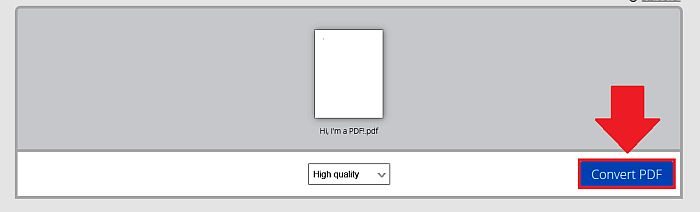 Converting File in PDF Candy