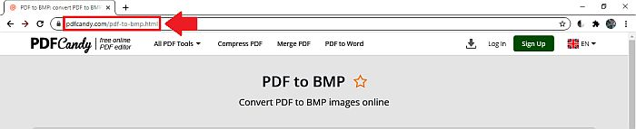 PDF Candy Home page