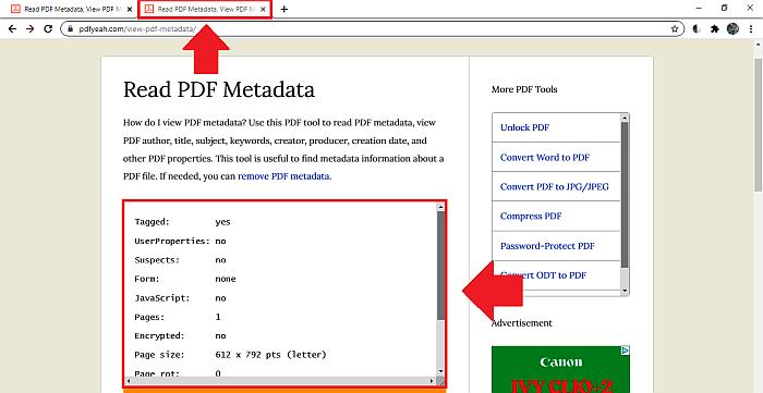 PDFYeah new metadata