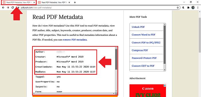 PDFYeah original metadata