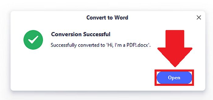 PDFelement conversion successful