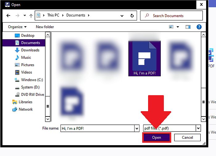 Opening PDF File in PDF Element