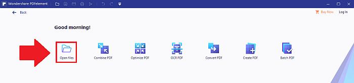 PDFelement open files