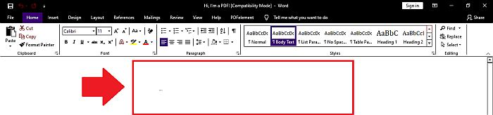 PDFelement Conversion to word