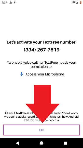 Text Free OK microphone