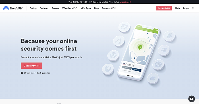 NordVPN-watch Netflix without geographical restrictions