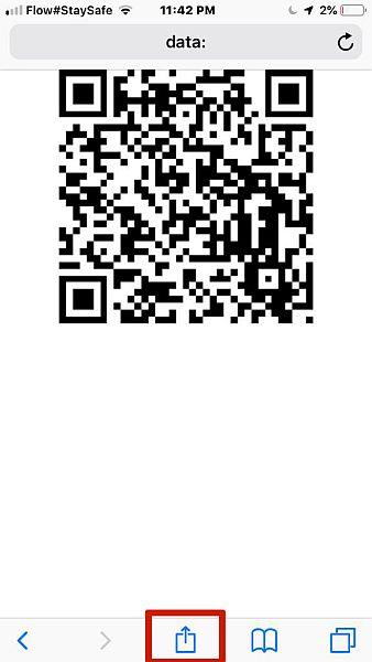 Qifi QR Code Saving to Phone