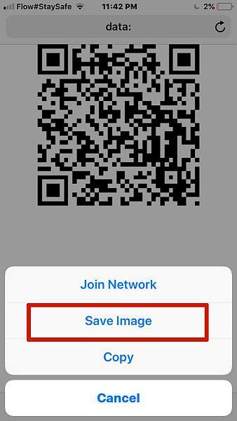 Saving QR Code Image to phone
