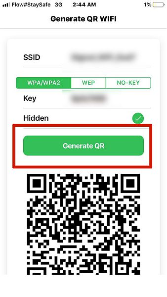 Click Generate Button To Generate QR Code
