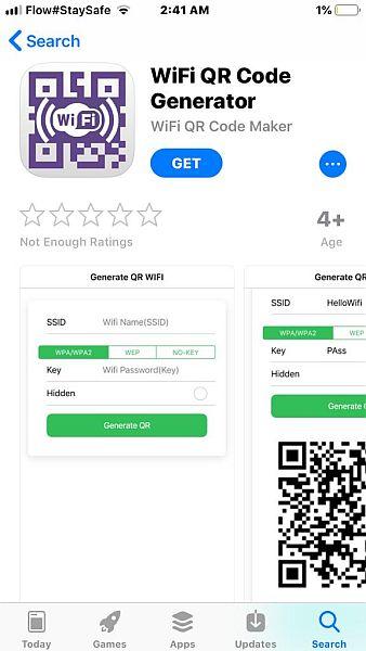 App store Wifi QRCode Generator
