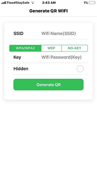 Generate QR Wifi with Wifi QR Code Generator App